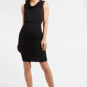 NWT Express Ruched Cowl Neck Knit Sheath Dress